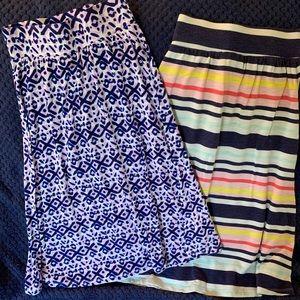 Two Cherokee Maxi Skirts